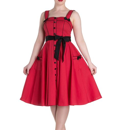M Co Polka Dress T3010 hell bunny rockabilly pinup martie 50s dress polka dot all sizes