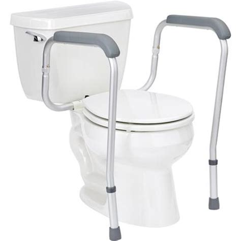 bathroom handicap rails medline toilet safety frame rails walmart com