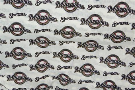 upholstery fabric milwaukee items similar to milwaukee brewers fabric cotton mlb