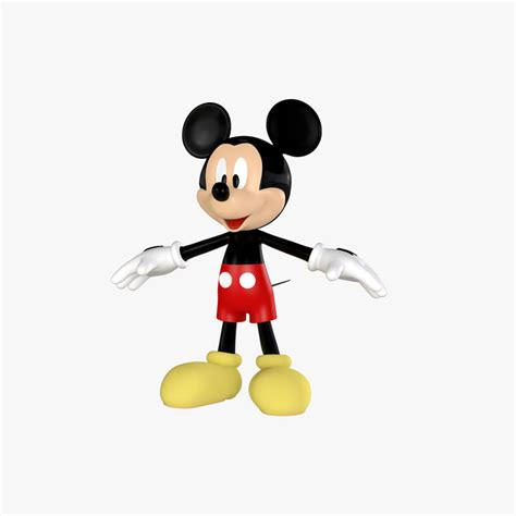 3d Mickey Mouse 3d mickey mouse model