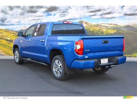 Blue Toyota Tundra 2016 Blazing Blue Pearl Toyota Tundra Platinum Crewmax 4x4