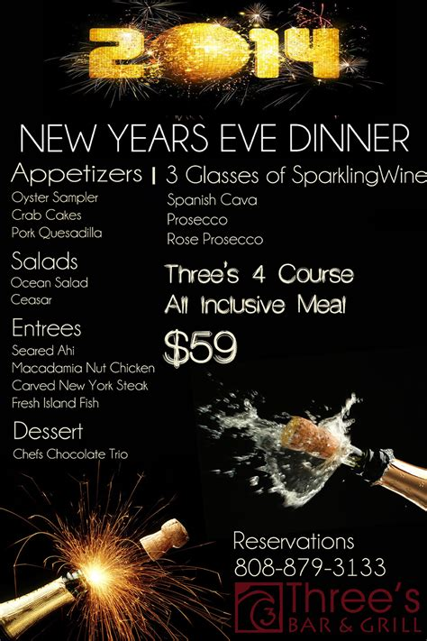 new year catering menu 2015 new years dinner menu