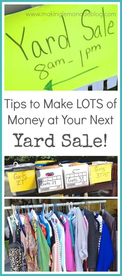 How To Make Money Out Of Your Garage 36 best yard sale tips images on yard sales