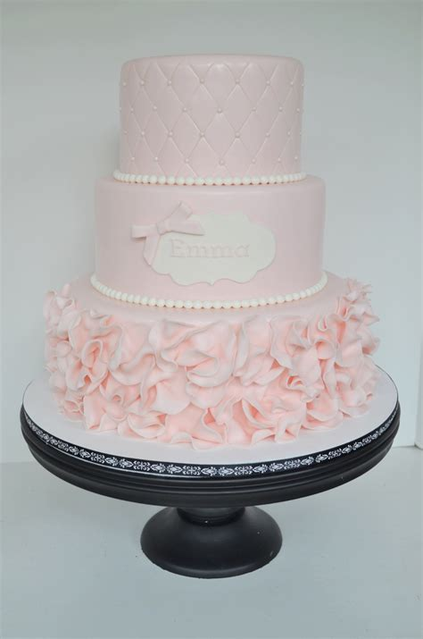 pink ruffle cake cakecentralcom
