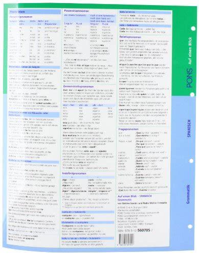 libro pons bildwrterbuch spanisch fr libro pons grammatik auf einen blick spanisch di