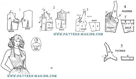 Pattern Drafting Halter Top | how to draft halter back dress pattern making com