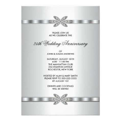 25th wedding anniversary invitation card ideas 17 best images about 25th wedding anniversary on
