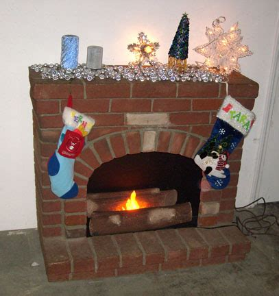 fake fireplace for christmas decorations