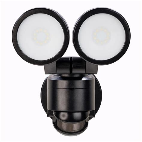 twin head outdoor light defiant 180 degree black motion activated outdoor