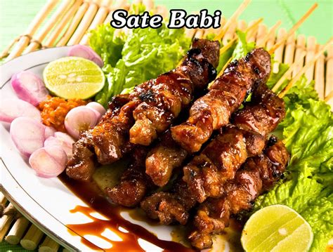 sate babi pork satay sate babi manis sweet pork satay