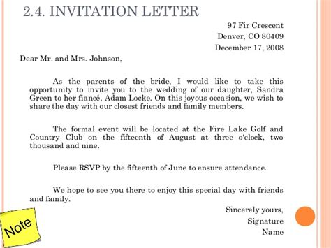 Fundraising Committee Invitation Letter 3 Letter Writing