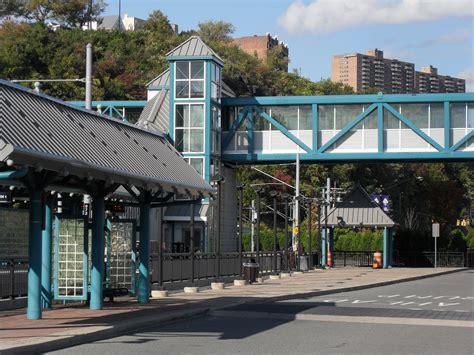 hudson bergen light rail light rail station united metals glass