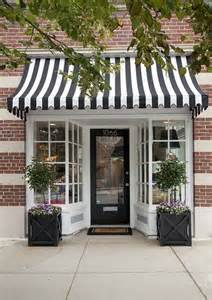 Shop Window Canopy Inviting Boutique Storefront Adorable Black And White