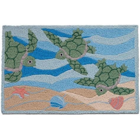 turtles rug jellybean sea turtle indoor outdoor rug artsihome