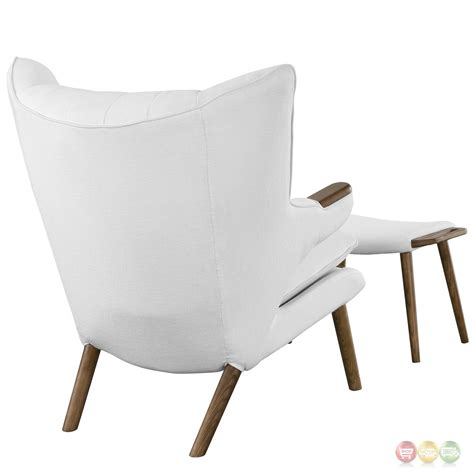 white club chair with ottoman contemporary wing tipped lounge chair with matching