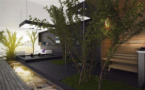 Maravillosa  Decoracion De Cocheras Modernas #2: Interior-courtyard-design.jpg