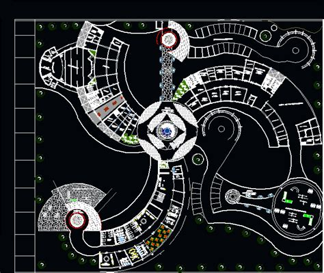 dwg projects arch design drawing pinterest hotels recreation complex 2d dwg design full project for autocad