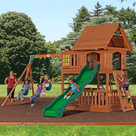Backyard Discovery Montpelier Cedar Wooden Swing Sets Wooden Play Sets