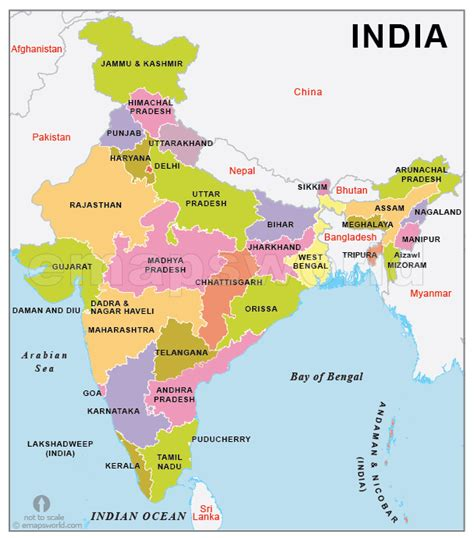 india map with country names india map with states name