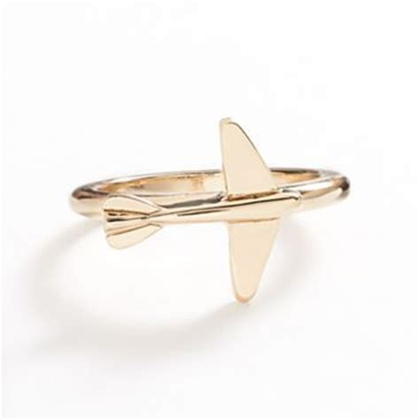 lc lauren conrad gold tone airplane ring rings
