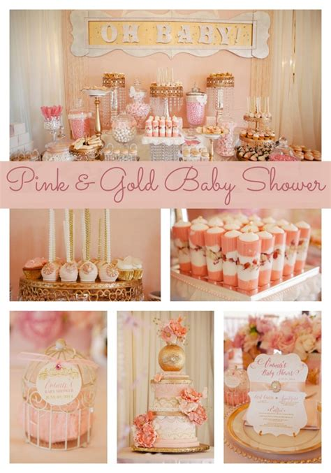 Baby Shower Pink And Gold by Whimsical Pink And Gold Baby Shower Pretty My