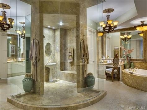 massive large master bathroom walk  shower
