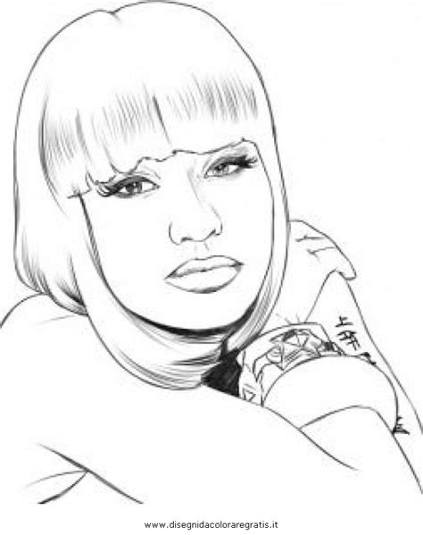 Cardi B Coloring Pages by Disegno Nicki Minaj Da Colorare