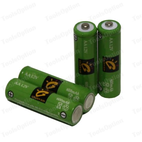 Batteries For Outdoor Solar Lights 20 X Aa Ni Cd 600mah Solar Lights Rechargeable Battery Ebay