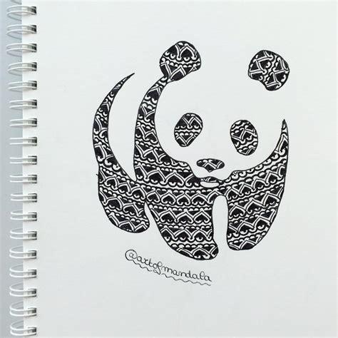 panda mandala tattoo panda mandala drawing drawings pinterest mandala