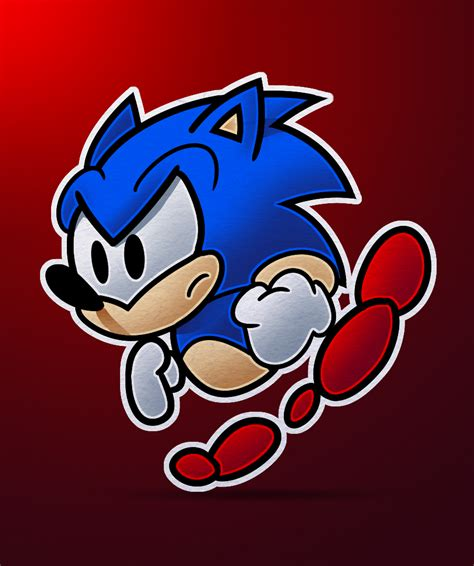 paper sonic by sonicallstarsusa on deviantart