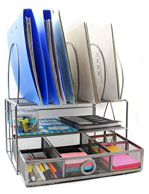 mesh desk organizer tray easypag mesh desk organizer tray with 5 stacking sorter