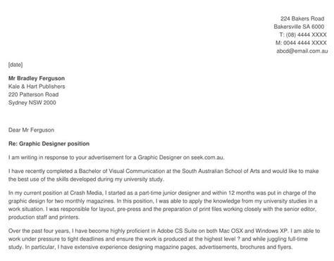 cover letter senior graphic designer cover letter