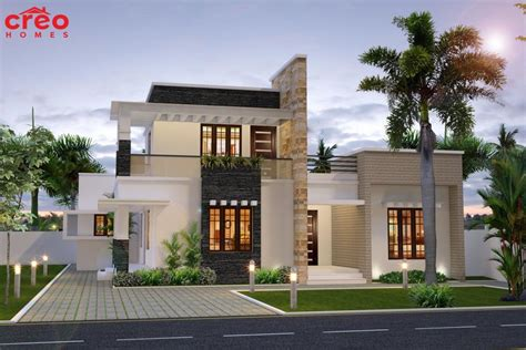 4 bhk contemporary style home 195 square meter kerala home design and floor plans 2100 square 195 square meter 233 square yards 4 bedroom modern flat roof house