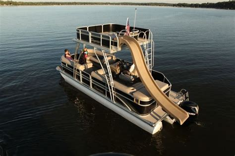 pontoon party boat with slide oh hell yeah kent s harbor indiana s best premier