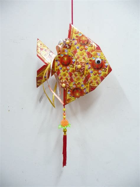 how to make new year lanterns using packets packet ang bao fish style needle a