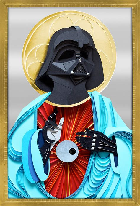 Papercraft Darth Vader - paper vader jesus pray to the side of the