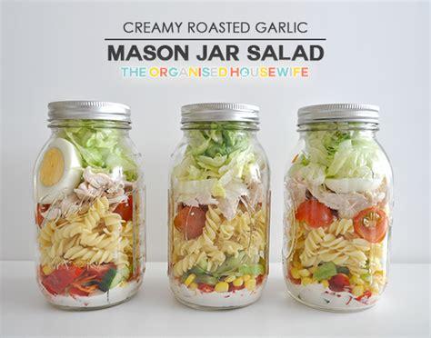 printable salad in jar recipes how to make mason jar salads the organised housewife