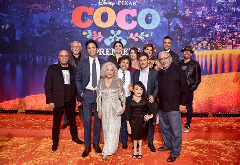 coco actors world premiere of disney pixar s quot coco quot talking with tami