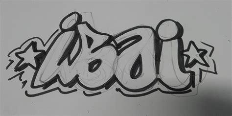 decoracion mural personalizada  nombre en graffiti