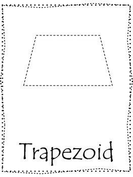 printable shapes trapezoid tracing trapezoids related keywords tracing trapezoids