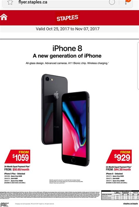 staples canada launches iphone 8 8 plus financing iphone in canada