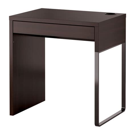 micke desk black brown ikea