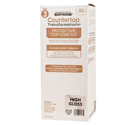 Rust Oleum 174 Countertop Transformations High Gloss Rustoleum Cabinet Transformations Protective Top Coat