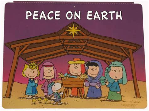 peanuts gang nativity wall decor snoopnpnutscom snoopy christmas charlie brown christmas