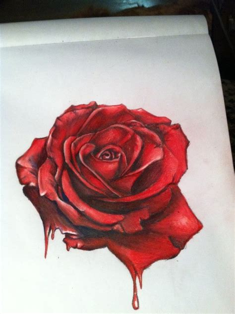 bleeding black rose tattoo 25 best ideas about drawings on how to