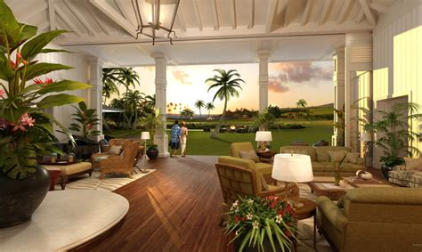 plantation home decor construction started at kauai s first private resort