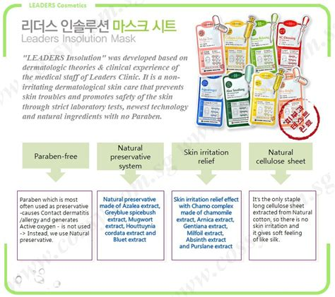 Premium Leaders Insolution Skin Clinic Mask korean masks for every skin troubles