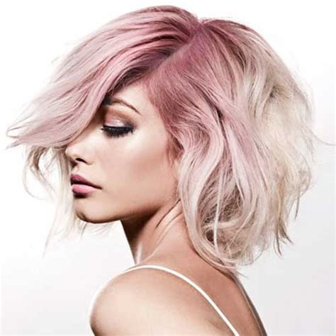 Tumblr Style Pale Pink Short Hair Colors   Love this Hair