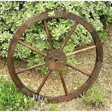cedar wagon wheel garden decoration  overstock
