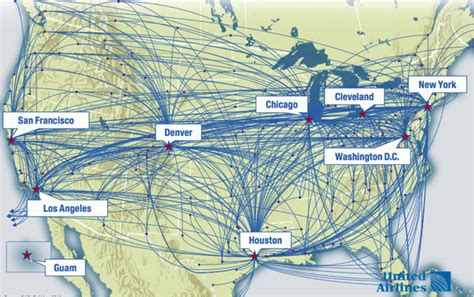 united airlines hubs united airlines hubs map images
